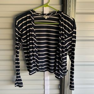 Forever 21 navy striped cardigan small